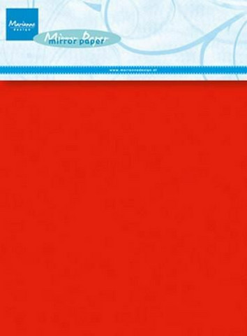 MD Mirror Paper A5 :  Red