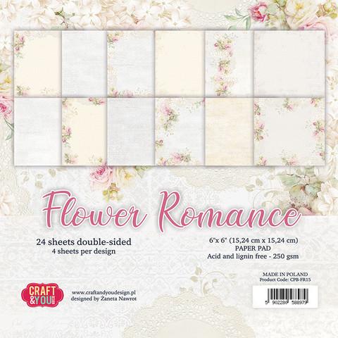 Craft & You Design: Flower Romance 6x6 - paperikokoelma