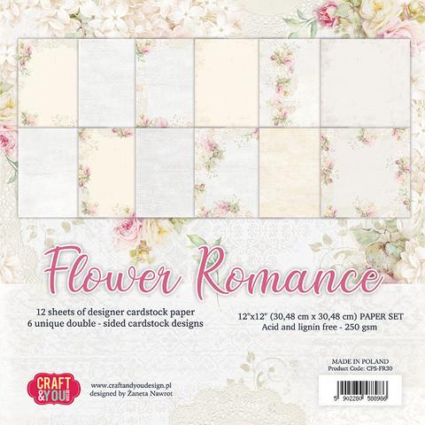 Craft & You Design: Flower Romance 12x12 - paperikokoelma