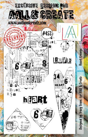 Aall & Create : Heart Grunge  #453 - leimasinsetti