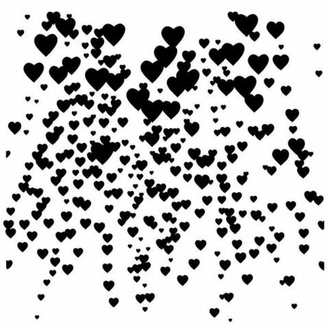 13arts: Falling Hearts 6 x 6 -sabluuna