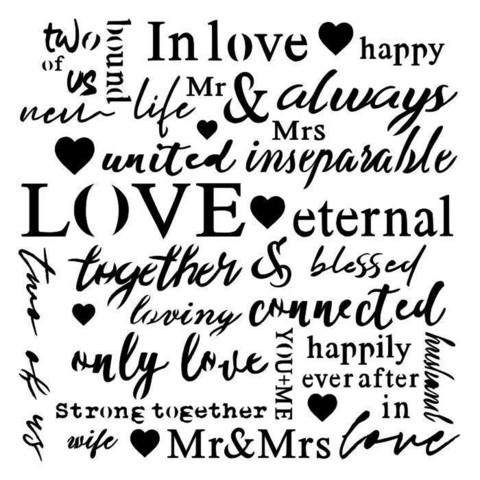 13arts: Love Text 6 x 6 -sabluuna