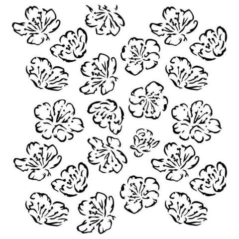 13arts: Spring Flowers  6 x 6 -sabluuna