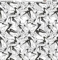 13arts Transparent Printed Foil : Sunrise 12x12   - asetaattiarkki