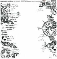 13arts Transparent Printed Foil : The Journey  12x12   - asetaattiarkki