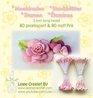 Leane Creatief Heteet  160 kpl -  Pearlecent & Matt Pink 2 mm