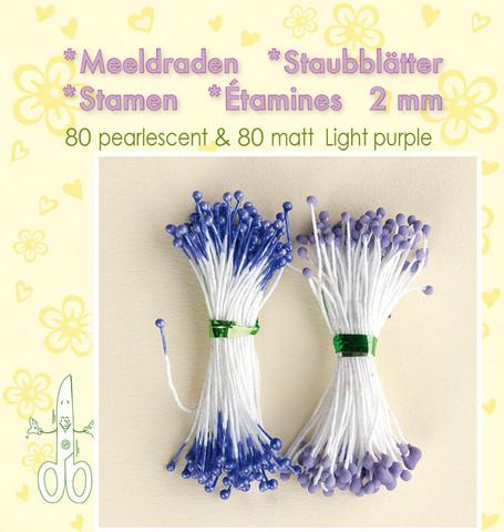 Leane Creatief Heteet  160 kpl -  Pearlecent & Matt Light Purple 2 mm
