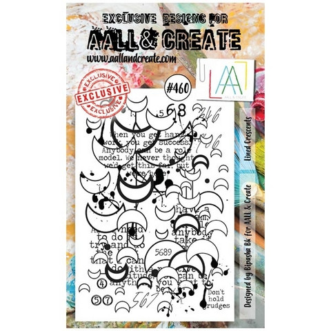 Aall & Create: Lined Crescents #460 - leimasinsetti