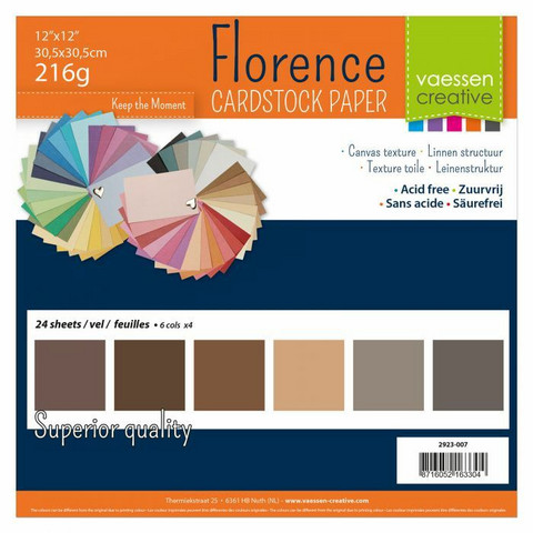 Florence: Brown Canvas 12x12 (30,5 x 30,5 cm) -kartonkipakkaus