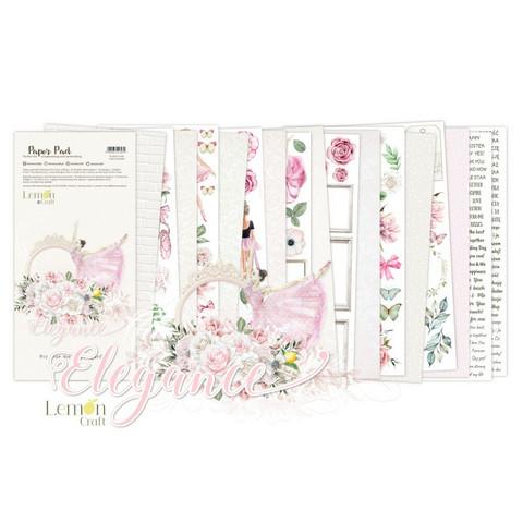 Lemoncraft: Elegance Elements for Fussy Cutting 6x12 -paperilehtiö