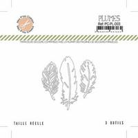Mes Petit Ciseaux: Plumes (höyhenet) - stanssisetti