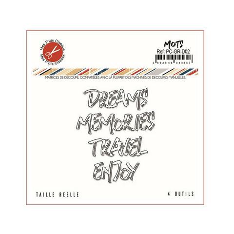 Mes Petit Ciseaux: Mots ( Dream, Memories, Travel, Enjoy)  - stanssisetti