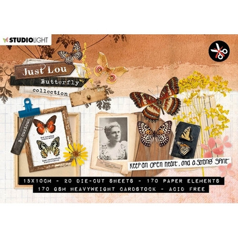 Studio Light: Just Lou Butterfly Collection A6  - leikekuvalehtiö