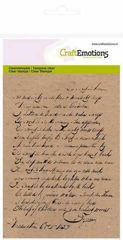 Craft Emotions: Background Text - kirkas leimasinsetti