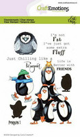 Craft Emotions: Carlas Creaties - Penquin 1 - kirkas leimasinsetti