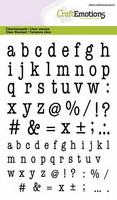 Craft Emotions: Typewrite Lowercase Alphabet - kirkas leimasinsetti