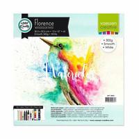 Vaessen Creative: Florence Smooth 300gsm akvarellipaperipakkaus 12x12 / 5 arkkia