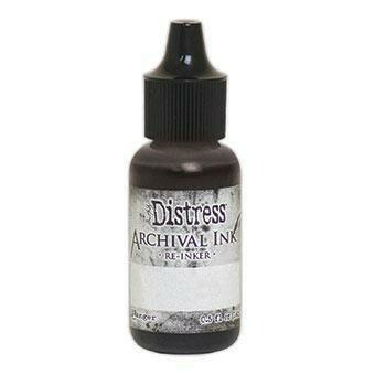 Distress Archival Ink: Black Soot - täyttöpullo