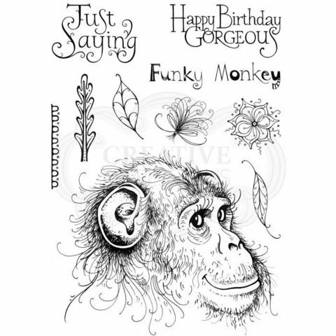 Pink Ink Design: Funky Monkey A5  - leimasinsetti