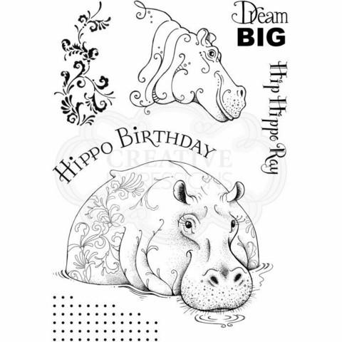 Pink Ink Design: Hip Hippo Ray A5  - leimasinsetti