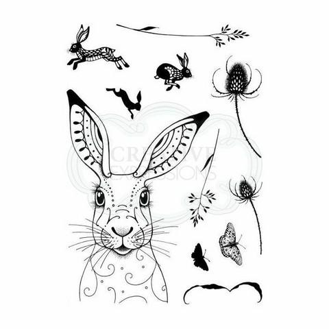 Pink Ink Design: Hare A5  - leimasinsetti