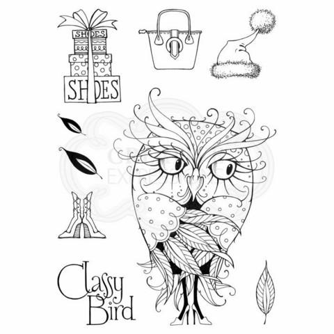 Pink Ink Design: Classy Bird A5  - leimasinsetti