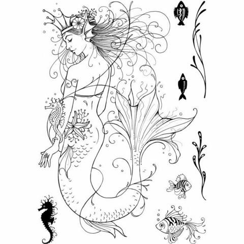 Pink Ink Design: Mermaid A5  - leimasinsetti