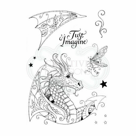Pink Ink Design: Dragon A5  - leimasinsetti