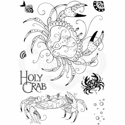 Pink Ink Design: Holy Crab A5  - leimasinsetti