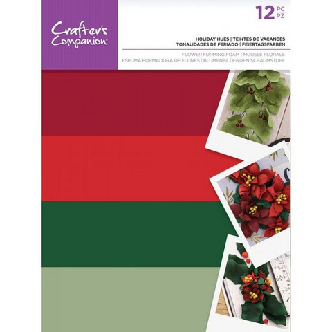 Crafter's Companion Flower Forming Foam: Holiday Hues