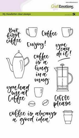 Craft Emotions: Coffee Please by Carla Kamphuis A5 - kirkas leimasinsetti