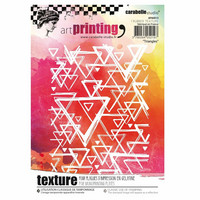 Carabelle Studio Texture Plate: Triangles by Alexis