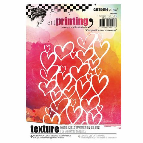 Carabelle Studio Texture Plate: Composition avec des coeurs