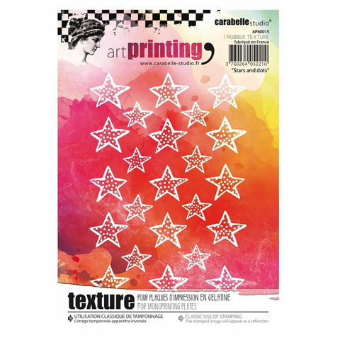 Carabelle Studio Texture Plate: Stars and dots