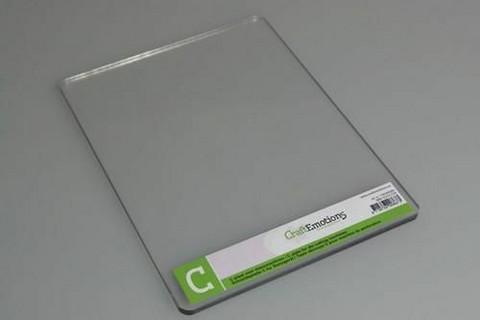 Craft Emotions C Plate (Cuttlebug yhteensopiva)