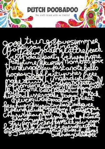 Dutch Doobadoo: Text 15x15 cm -sabluuna