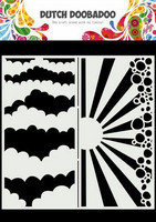 Dutch Doobadoo: Slimline Clouds  21x21 cm -sabluuna