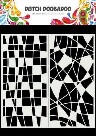 Dutch Doobadoo: Slimline Mosaic Line  21x21 cm -sabluuna