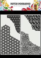 Dutch Doobadoo: Slimline Cracked Patterns  21x21 cm -sabluuna