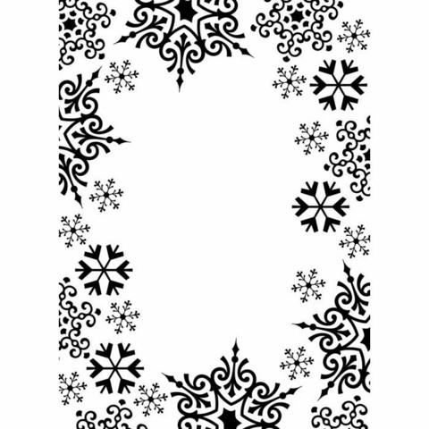 Darice: Snowflake Trim - kohokuviointikansio