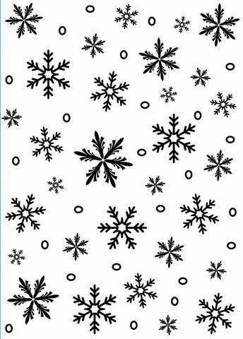 Darice: Snowflake Background - kohokuviointikansio