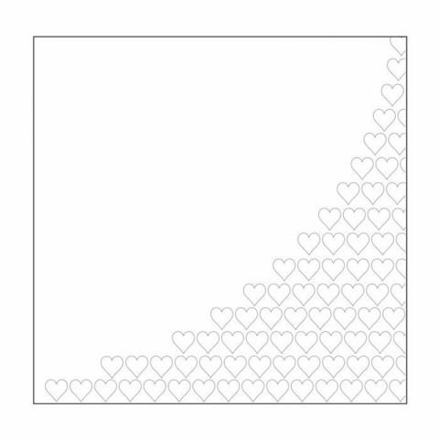 Mundart Stempel:  Hearts Half - kohokuviointikansio