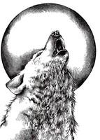 Crafty Individuals: Howling Wolf - unmounted leimasinsetti