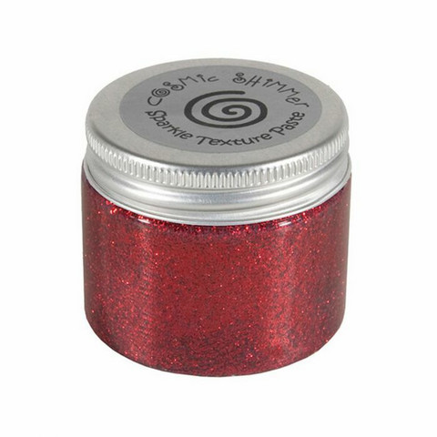 Cosmic Shimmer Sparkle Texture Paste:  Berry Red 50 ml