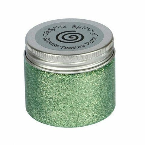 Cosmic Shimmer Sparkle Texture Paste:  Sea Green 50 ml