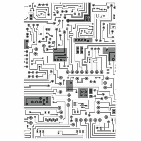 Sizzix 3D Texture Fades: Circuit  -kohokuviointikansio