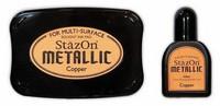 Stazon Metallic: Copper  -mustetyyny ja täyttöpullo