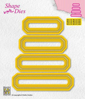 Shape Dies: Set of 4 tags #4 - stanssisetti