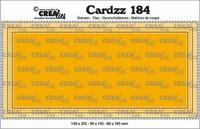 Crealies Cardzz: Slimline D - stanssisetti