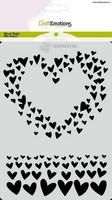 Craft Emotions: Hearts  A6 -sabluuna